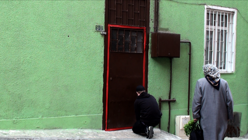 "Red Tape (Don't go into Tarlabasi), 2010, HD Video, 07'09"", Still from video"